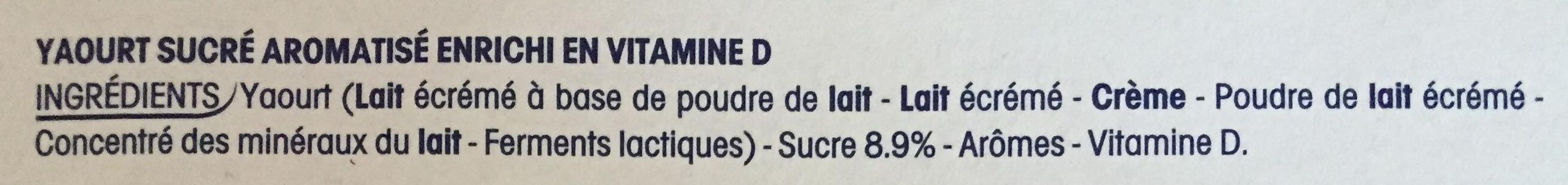 Frulls - Ingredients - fr