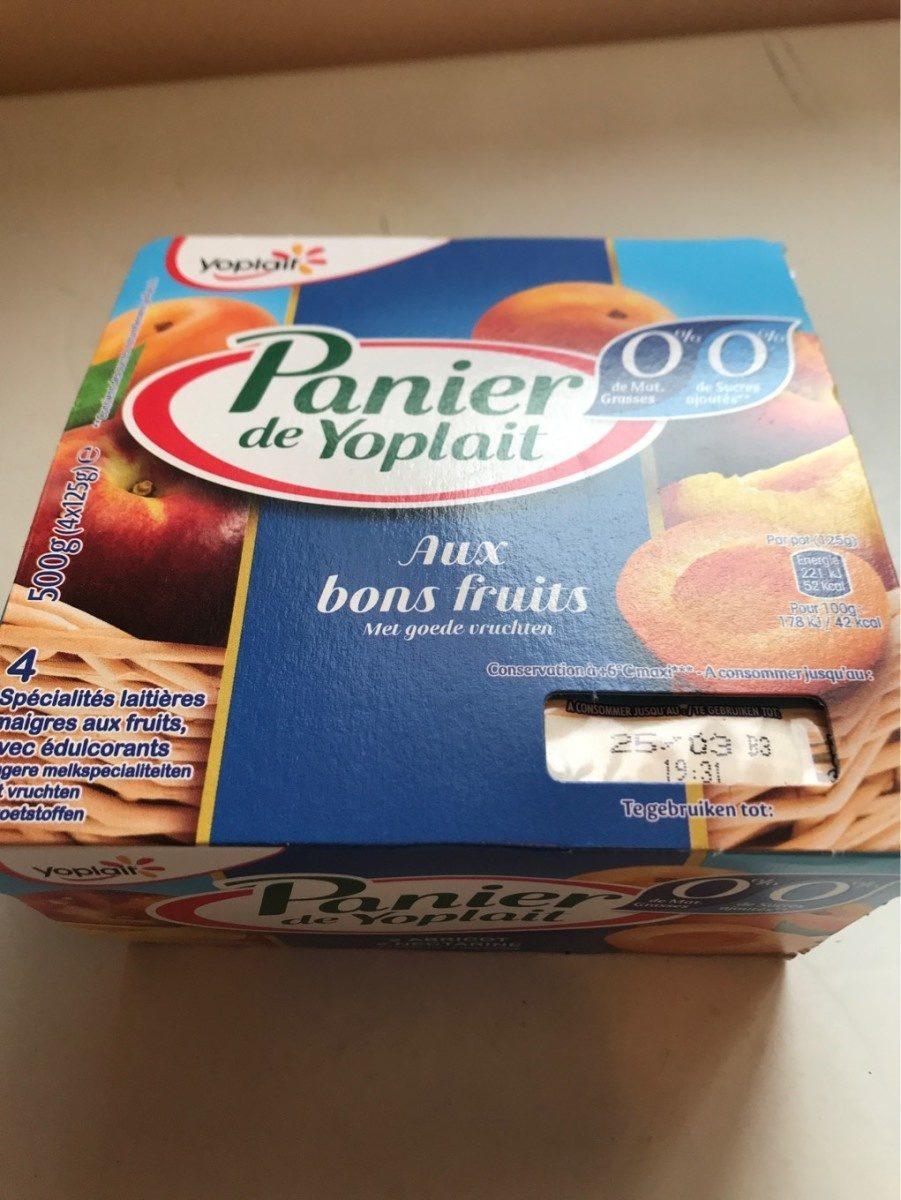 Panier de Yoplait 0% Abricot/Nectarine - Produit