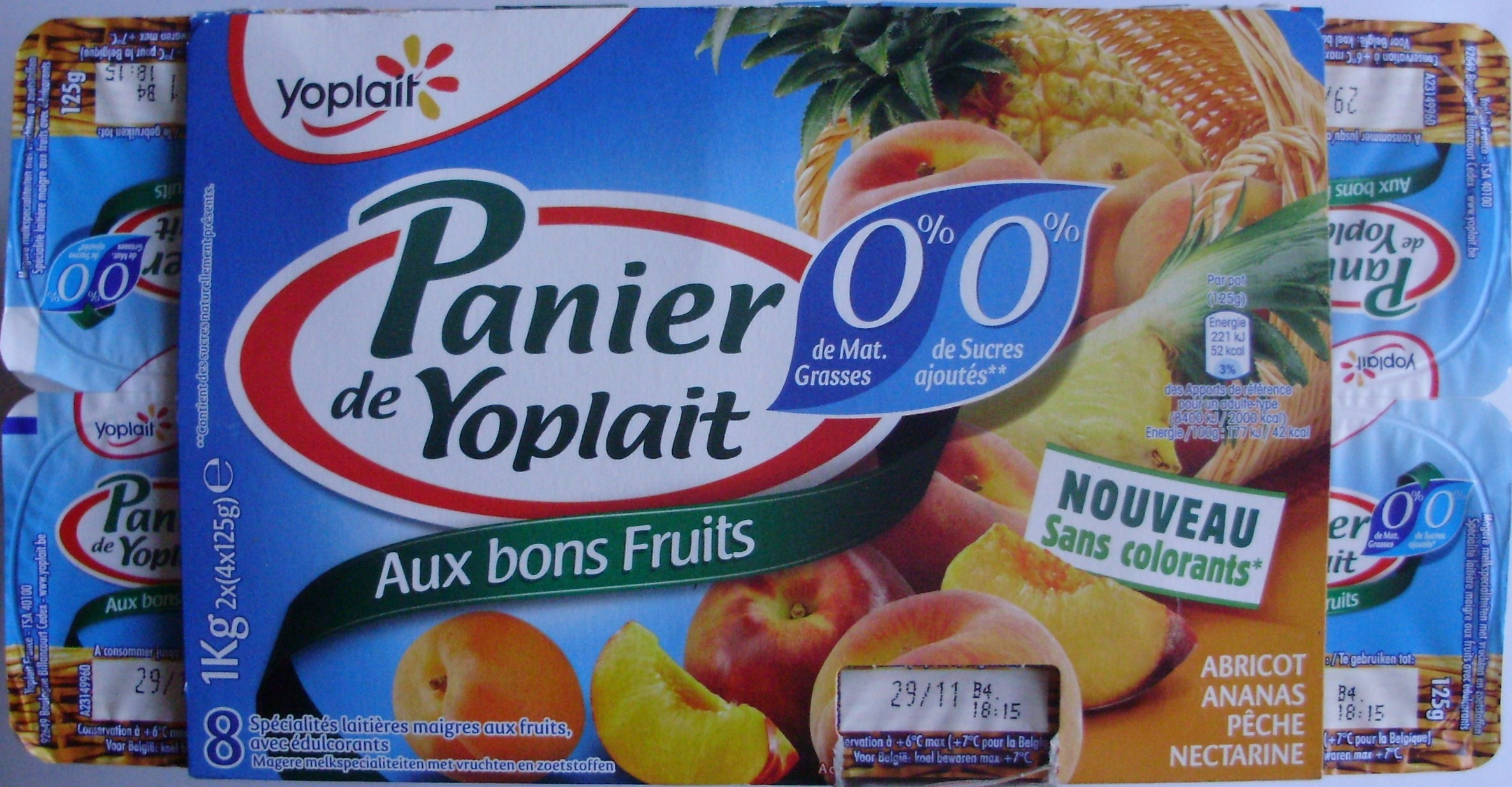 Orange Dreamsicle Cake also Say Oui To All New French Style Yogurt further Paniers De Yoplait 0 Mg 0 Sucres Ajoutes Abricot Ananas Peche Nectarine 8 Pots further 4834905567 likewise Food Label. on yoplait ingredients