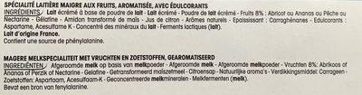 Paniers de Yoplait Aux Bons Fruits 0% mg - Ingrédients - fr