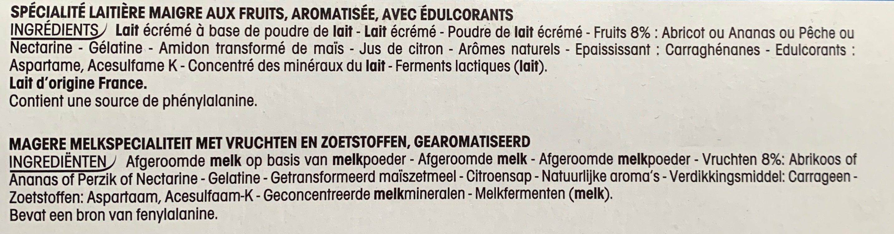 Paniers de Yoplait Aux Bons Fruits 0% mg - Ingredients