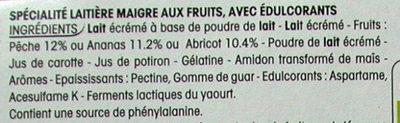 Panier de Yoplait 0% - Ingrediënten - fr