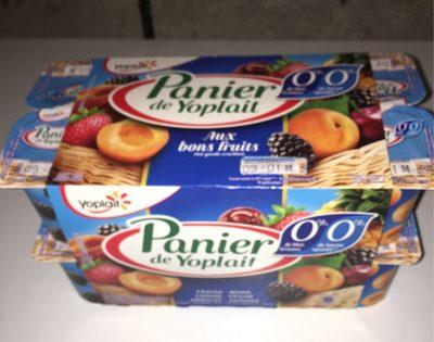 Panier de Yoplait  (0 % MG, 0 % Sucres ajoutés) - (Abricot, Ananas, Cerise, Fraise, Mûre, Pêche) 16 Pots - Produit - fr