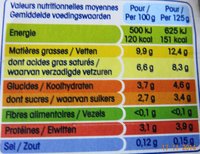 Perle de Lait (Nature) 4 Pots - Voedingswaarden