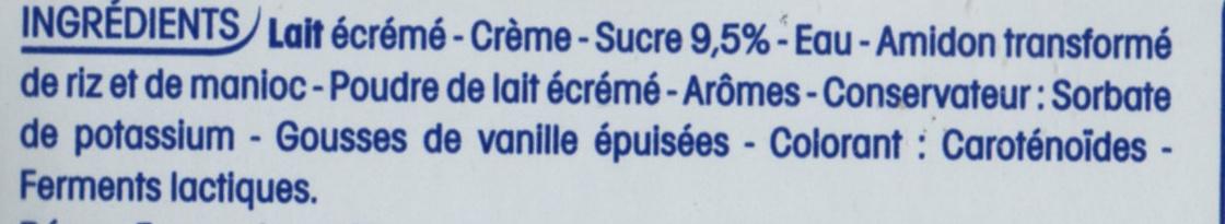 Perle de lait saveur vanille - Ingrédients - fr