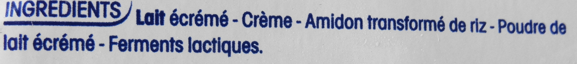 Perle de Lait Nature - Ingrediënten - fr