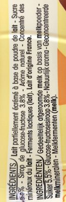 Yop parfum Vanille - Ingredients