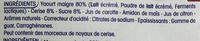 Yopa ! Nature sur lit de Cerise (0 % MG) - Ingrédients