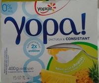 Yopa ! Nature sur lit d'Ananas (0 % MG) - Produit - fr