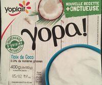 Yopa ! Noix de Coco (1,1 % MG) - Produit