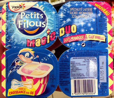 Petits Filous (Magic Duo Goût Framboise & Goût Vanille) - Product - fr