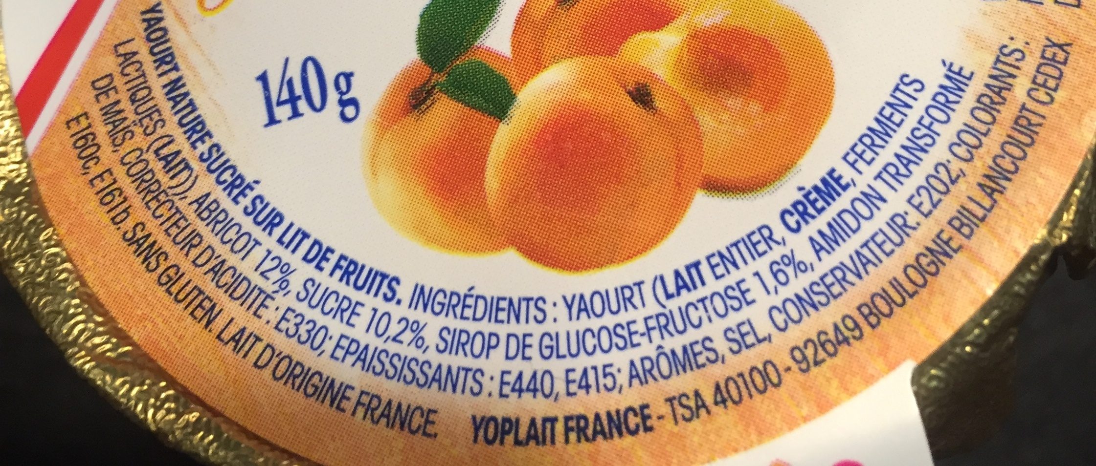Yaourt nature sucré sur lit de fruits, aromatisé - Ingredientes - fr