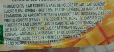Yaourt Panier De Yoplait Aux Fruits Mixés - Ingrédients - fr
