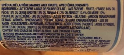 Panier de Yoplait Mûre - Ingrediënten
