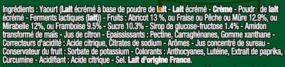 Panier de Yoplait  Nature sur Fruits - Ingredients - fr