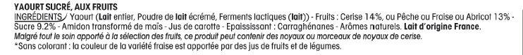 Quartiers crémeux & onctueux - Ingrediënten