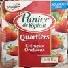 Panier de Yoplait Quartiers Crémeux & Onctueux Fraise - Product