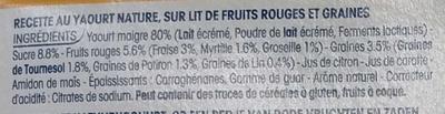 Yopa! Craquant sur lit de graines & fruits rouges (1,6% MG) - Ingredients - fr