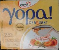 Yopa! Craquant sur lit de graines & pêche abricot (2,5% MG) - Produit