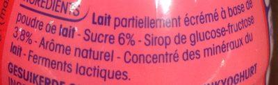 Yab ptit yop aromatise fraise - Ingrediënten