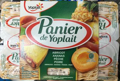 Panier de Yoplait Abricot - Ananas- Pêche - Poire - Product - fr