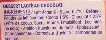 P'tit Yop au Chocolat - Ingredients - fr