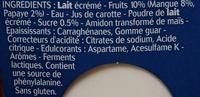 Panier de Yoplait - 0% Extra Mangue Papaye - Ingredients - fr
