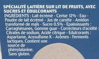 Panier de Yoplait Extra Cerise - Ingrédients