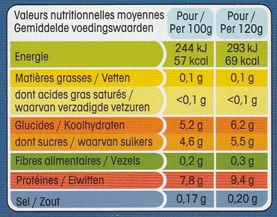 Panier de Yoplait Extra Cerise - Informations nutritionnelles