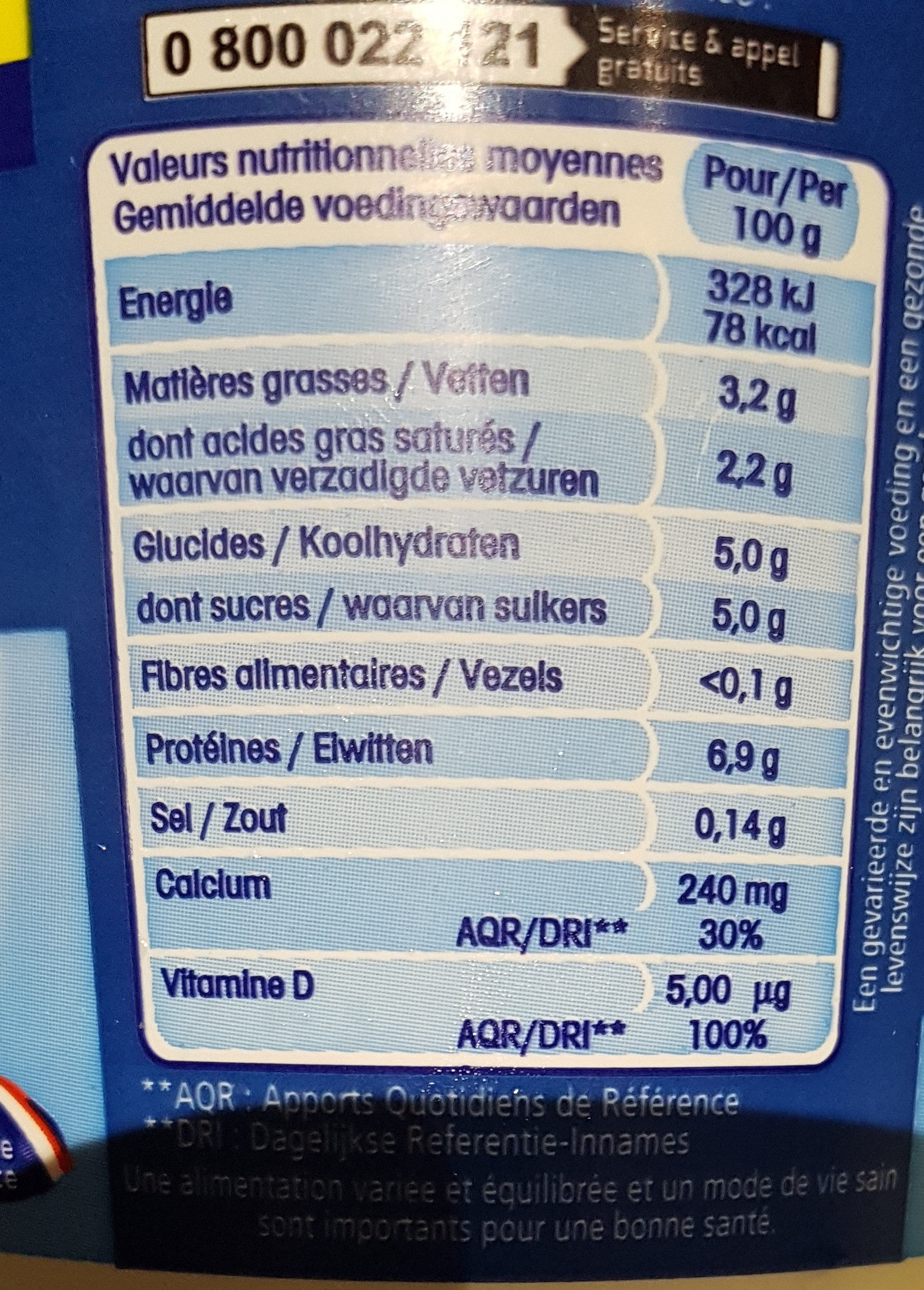 Calin Extra - Informations nutritionnelles