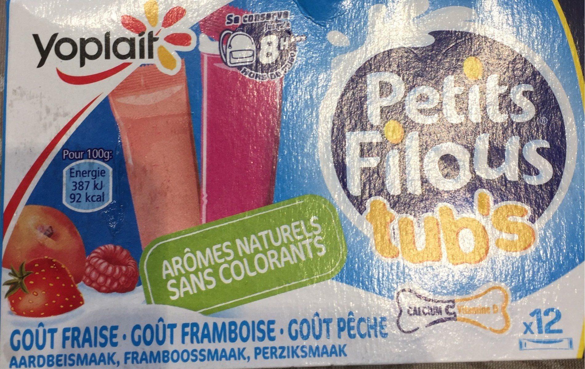 Petits Filous Tub's Goût Fraise, Pêche, Framboise - Product - fr