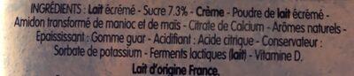 Petits Filous Tub's Goût Fraise, Pêche, Framboise - Ingrediënten