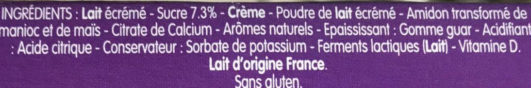 Petits Filous Tub's Goûts Myrtille et Abricot (édition limitée) - Ingrédients - fr