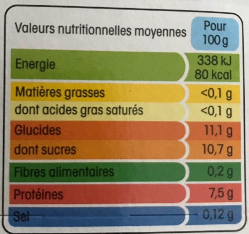 Yopa! Fraise - Informations nutritionnelles - fr