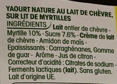Yaourts lait de ch vre myrtilles yoplait 460 g 4 115 g - Yaourt maison lait de chevre ...