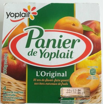 Panier de Yoplait Abricot / Nectarine - Produit - fr