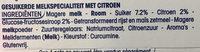 Perle de Lait Citron - Ingrediënten - nl
