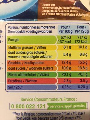 Perle de Lait Citron - Voedingswaarden - fr