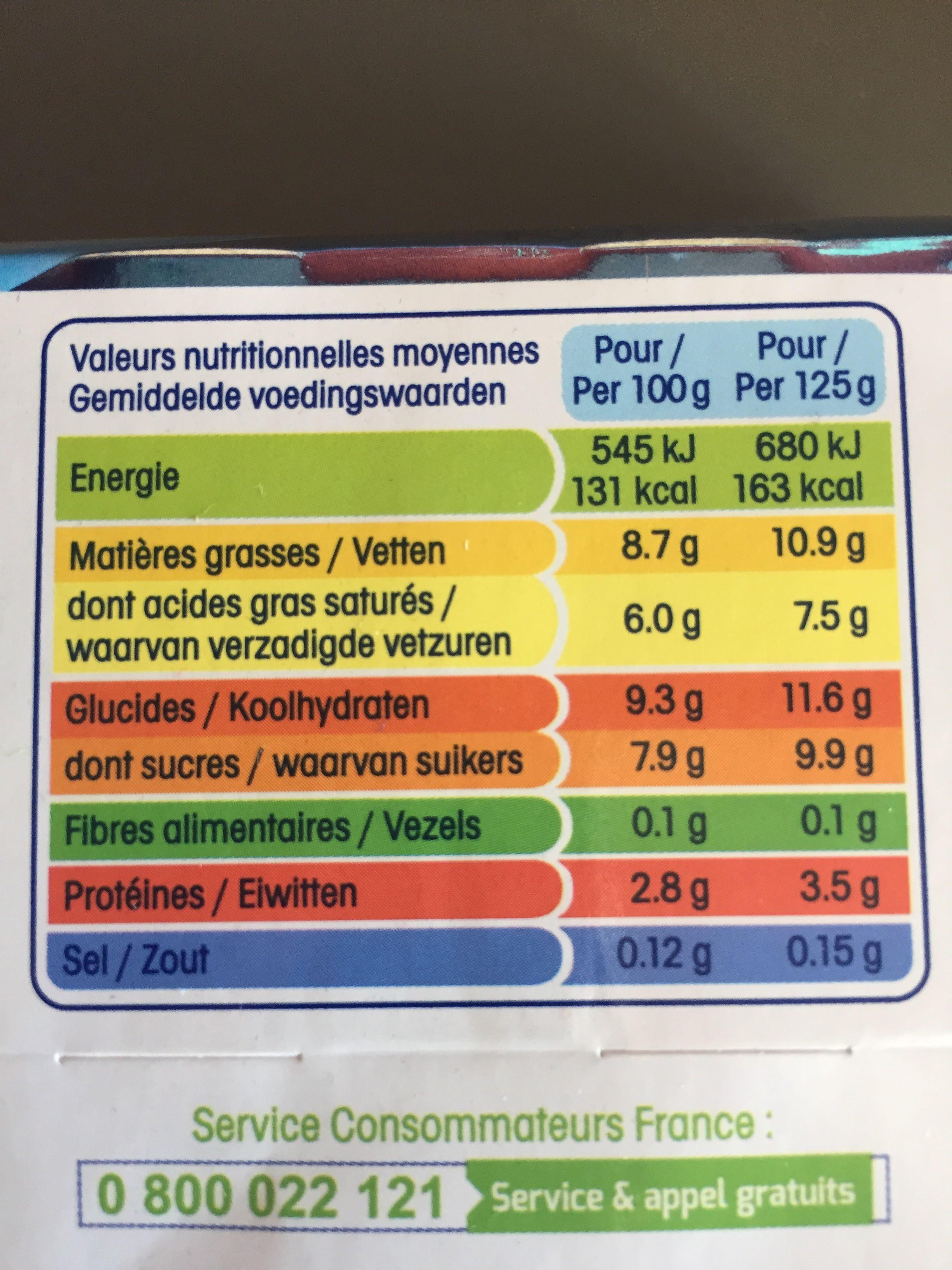 Perle de lait saveur coco - Nutrition facts - fr