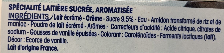 Vanille - Ingrédients - fr