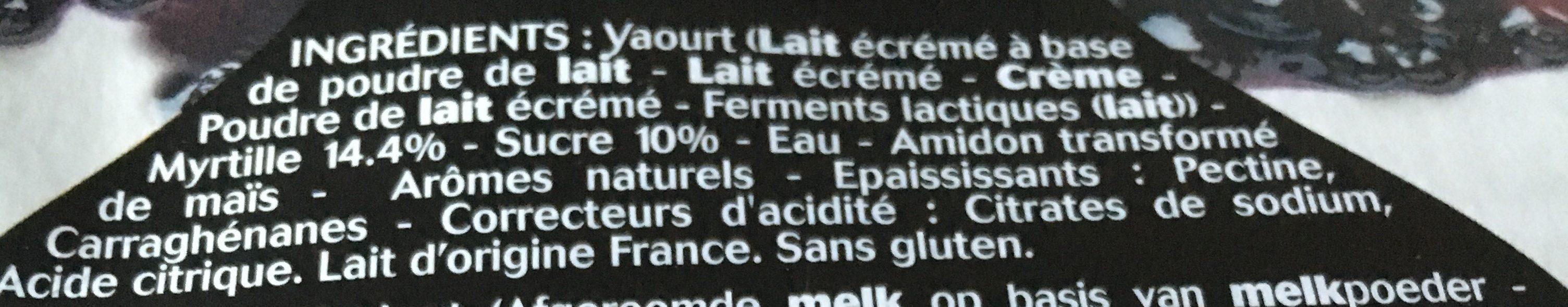 Panier de Yoplait - Champs de Fruits - Baies de Myrtilles - Ingrediënten - fr