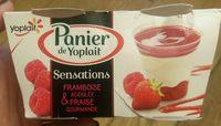 Panier de Yoplait sensations Fraise/Framboise - Produit