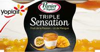 Panier de Yoplait sensations Mangue/Passion - Product