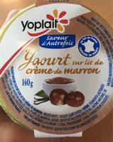 Yaourt sur lit de crème de marron vanillée - Product