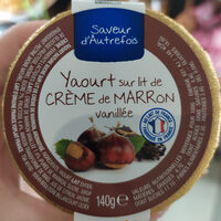Yaourt sur lit de crème de marron vanillée - Ingredients