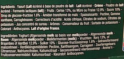 Panier de Yoplait - Ingrédients