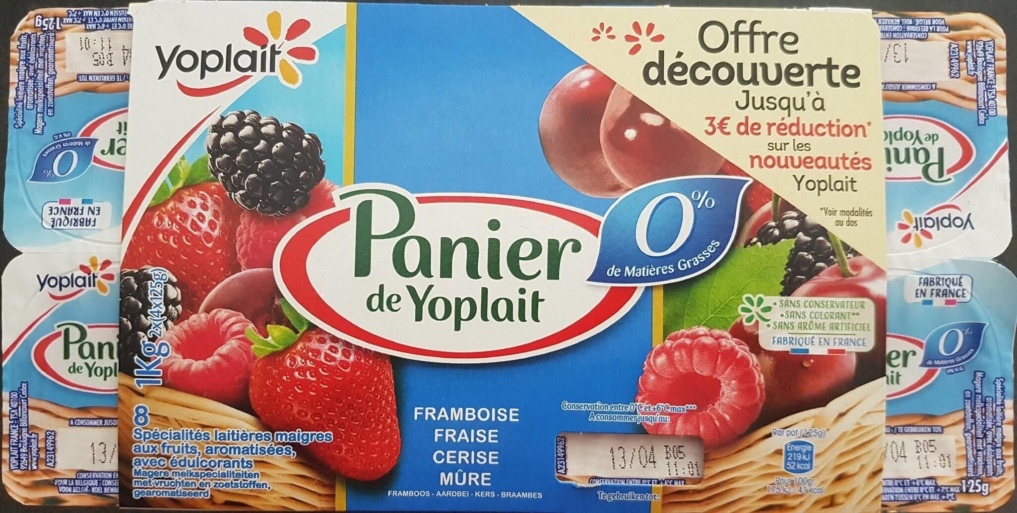 Panier de Yoplait 0% de MG - Produit