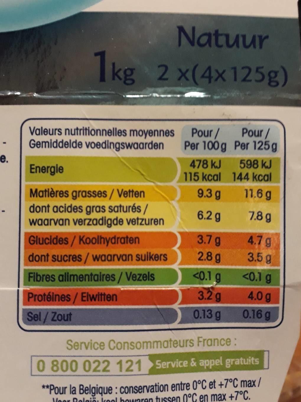 Perle de lait - Informations nutritionnelles - fr