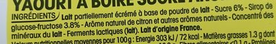 Yop parfum citron - Ingrediënten - fr