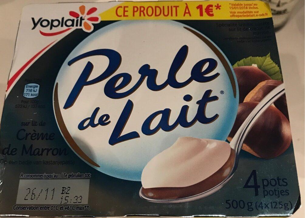 Perle de lait sur lit creme de marron - Product